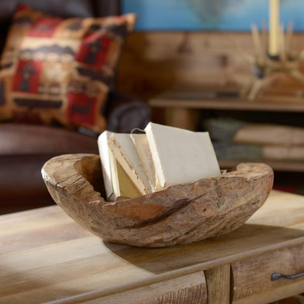 & Teak Wood Decorative Bowl | Kirklands