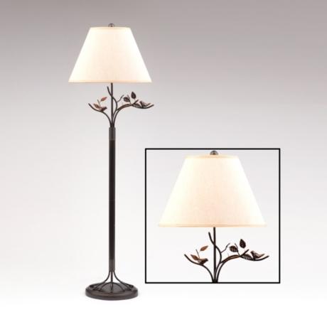 Bird leaf bronze floor lamp kirklands aloadofball Choice Image