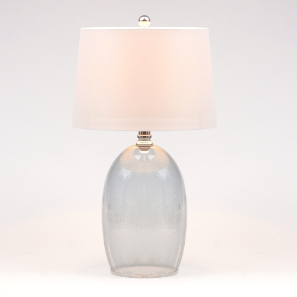 Blue seeded glass table lamp kirklands aloadofball Image collections