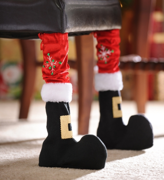 & Santa Boot Chair Leg Cover Set of 2 | Kirklands