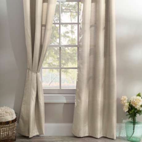 Taupe Curtain Panel Set 96 In
