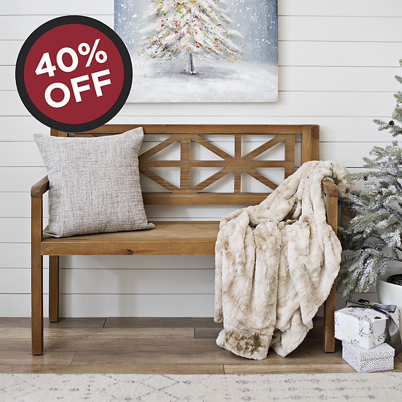 40% off Farmhouse Bench Now $167.99