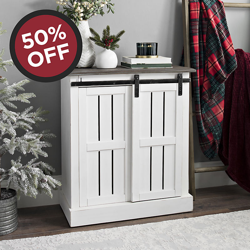 Farmhouse Sliding Cabinet Now $149.99