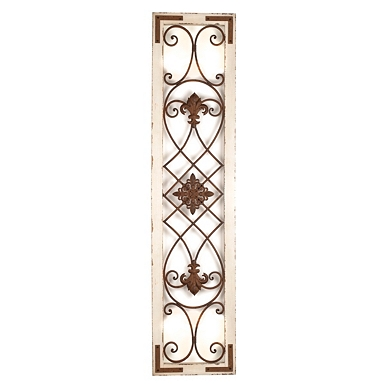 Distressed Cream Wood Metal Wall Panel Kirklands
