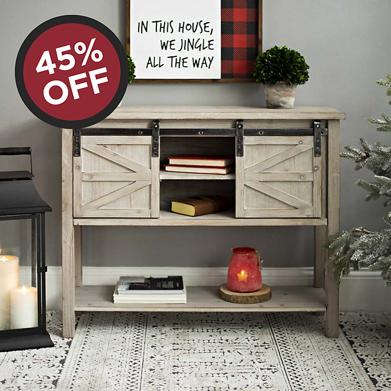 45% off Sliding Door Console Table Now $119.99