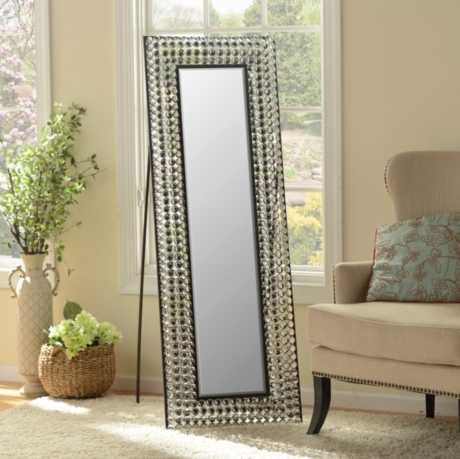 Crystal Bling Cheval Floor Mirror | Kirklands