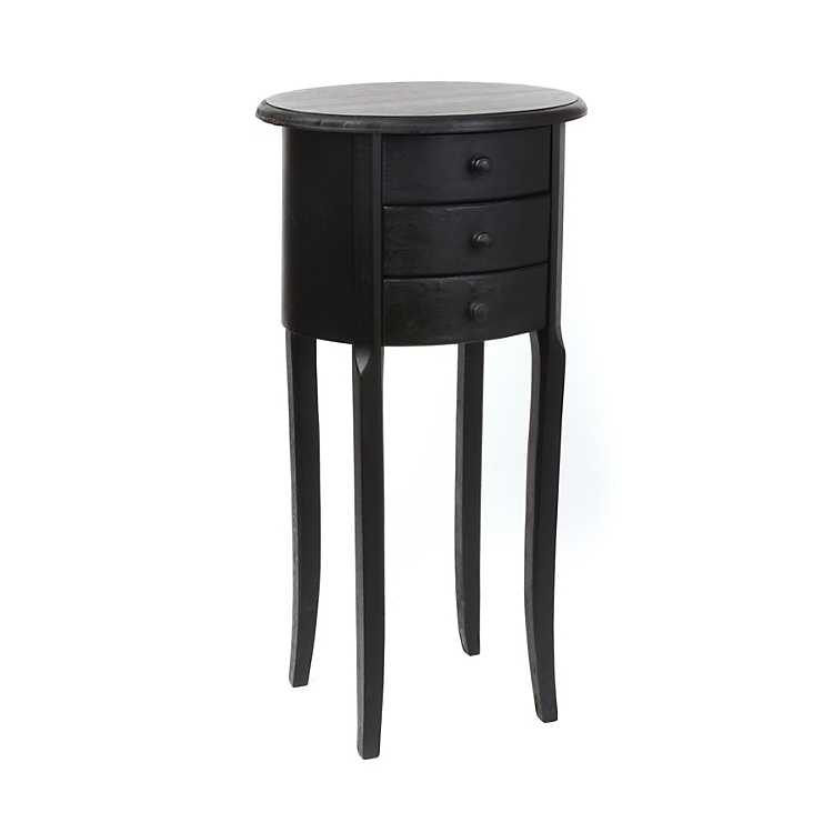 Product Details Modena Black Small Accent Table
