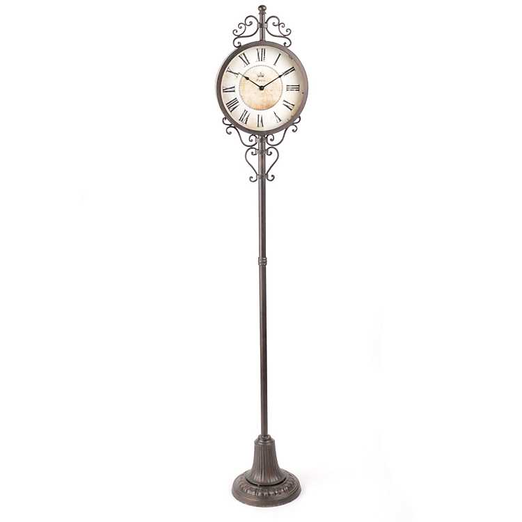 Metal Pedestal Floor Clock Kirklands