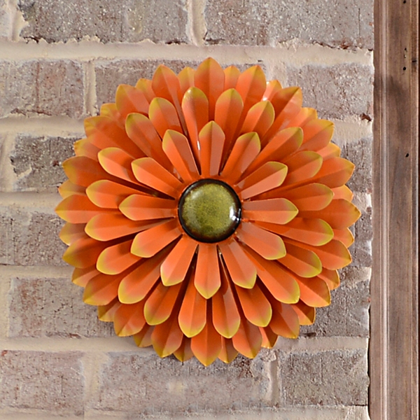 Orange Metal Flower Wall Plaque Kirklands