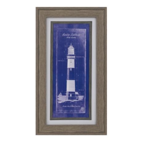 Lighthouse blueprint ii framed art print kirklands malvernweather Image collections