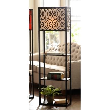 Unique Grady Wide Shelf Floor Lamp | Kirklands OE85