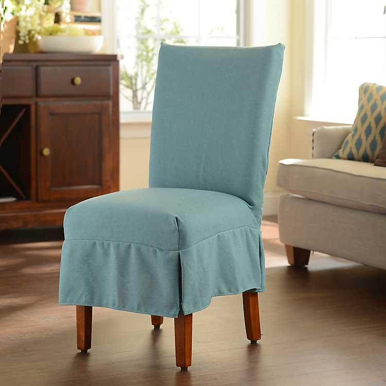 Blue Parsons Chair Slipcover Kirklands