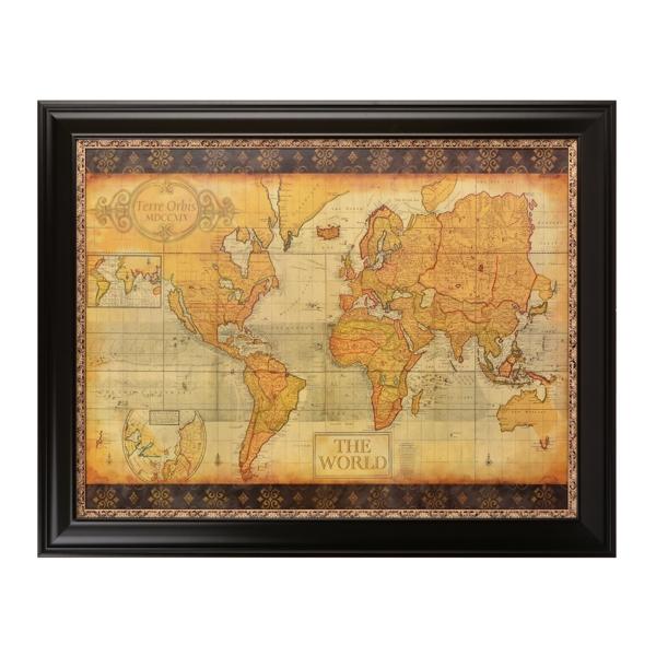Old World Map Framed Art Print | Kirklands