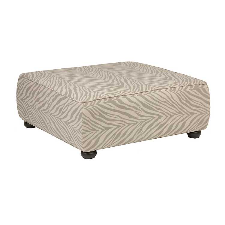 Excellent Gray Zebra Print Square Ottoman Alphanode Cool Chair Designs And Ideas Alphanodeonline