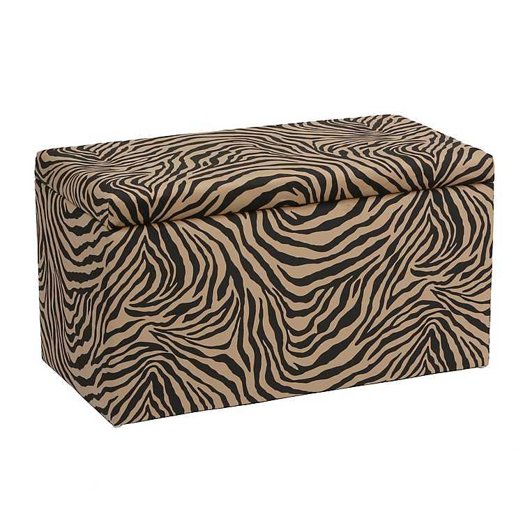 Incredible Zebra Print Velvet Storage Bench Uwap Interior Chair Design Uwaporg