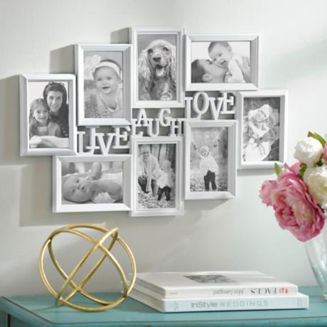Live, Laugh, Love White Collage Frame | Kirklands