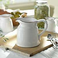 Turino White Ceramic Pitcher