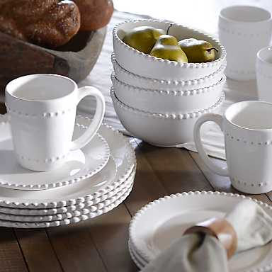 Bianca White Bead 16-pc. Dinnerware Set