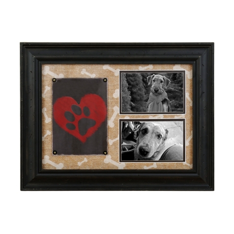 Burlap Dog Lovers Collage Frame | Kirklands
