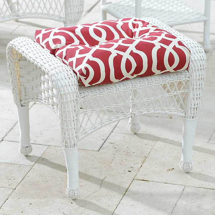 Super Savannah White Wicker Ottoman Inzonedesignstudio Interior Chair Design Inzonedesignstudiocom