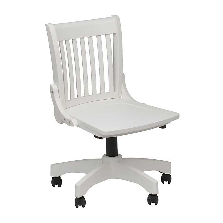 Fine White Swivel Desk Chair Machost Co Dining Chair Design Ideas Machostcouk