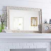 Ornate Ivory Framed Mirror,
