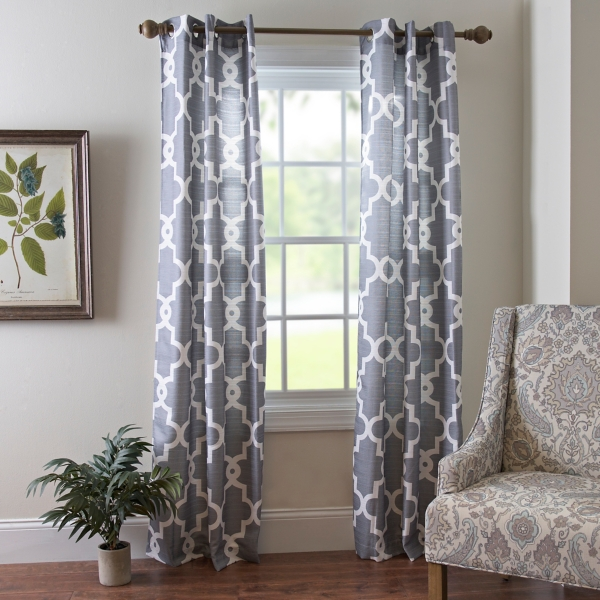 Gray Maxwell Curtain Panel Set 84 In