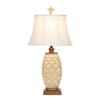Antique white french country table lamp kirklands mozeypictures Choice Image