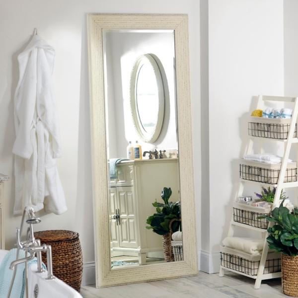 White shabby full length mirror 33 2x79 2 in kirklands