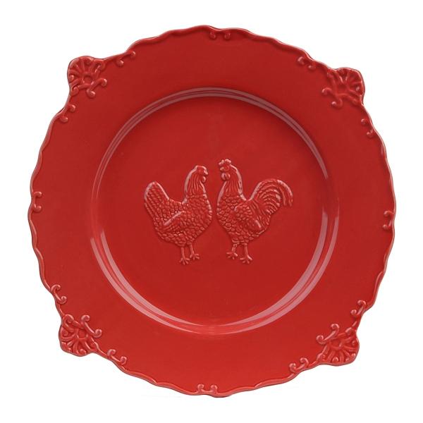 sc 1 st  Kirklands & Red Rooster Dinner Plate | Kirklands