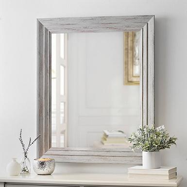Weathered Graywash Framed Mirror, 30x36 in. | Kirklands