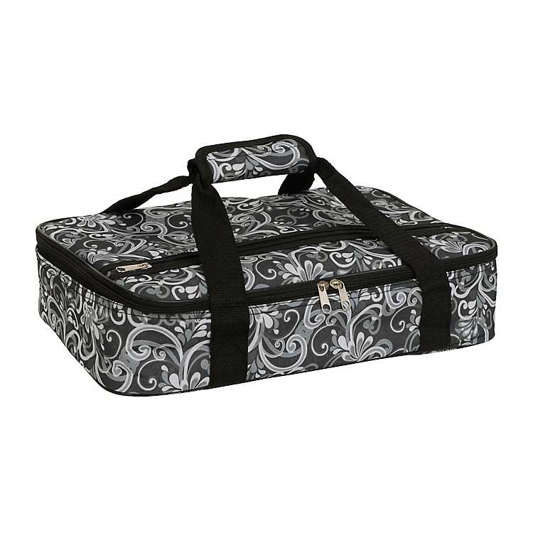 Product Details Fancy Scroll Insulated Casserole Carrier