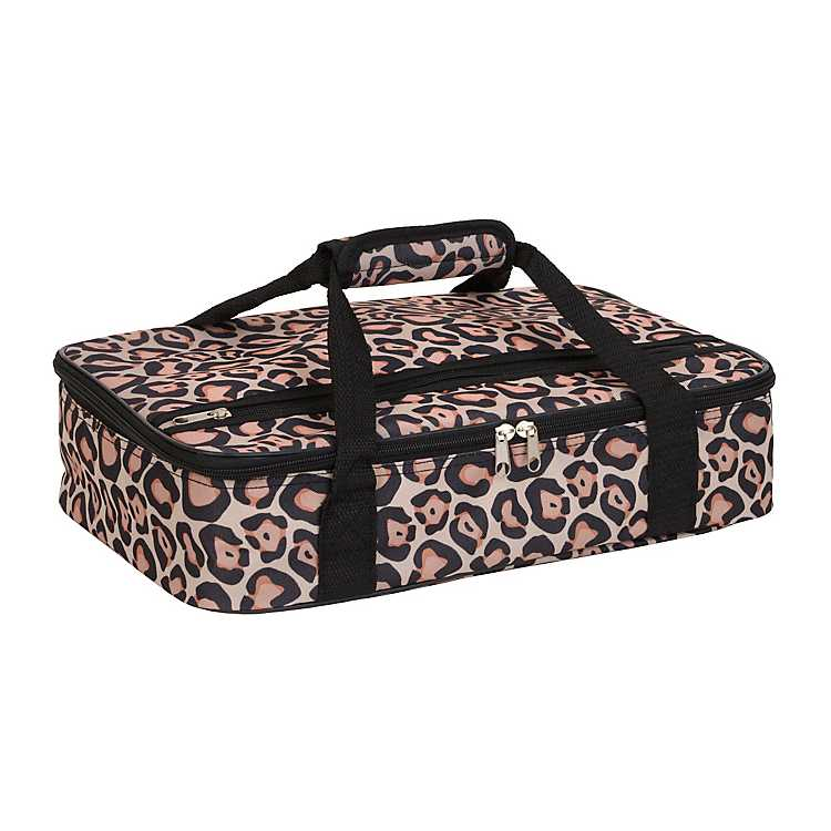 Product Details Pink Leopard Insulated Casserole Carrier