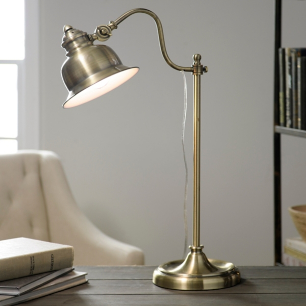 Vintage antique gold task lamp kirklands