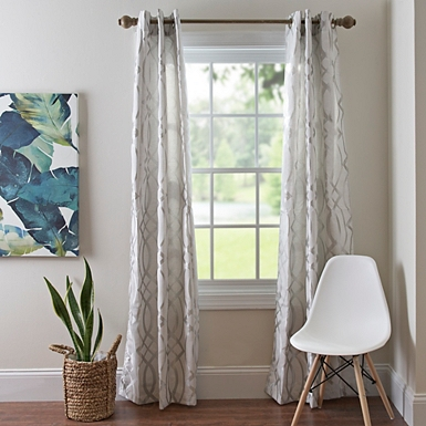 Gray Avalon Curtain Panel Set 84 In