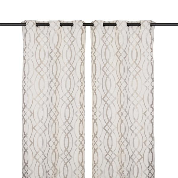 Gray avalon curtain panel set 96 in kirklands