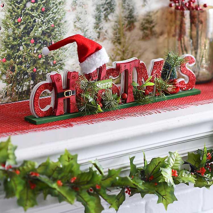 Cutout Merry Christmas Tabletop Sign | Kirklands