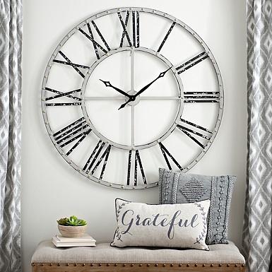Addison Cream Open Face Clock, 45 in.   Kirklands