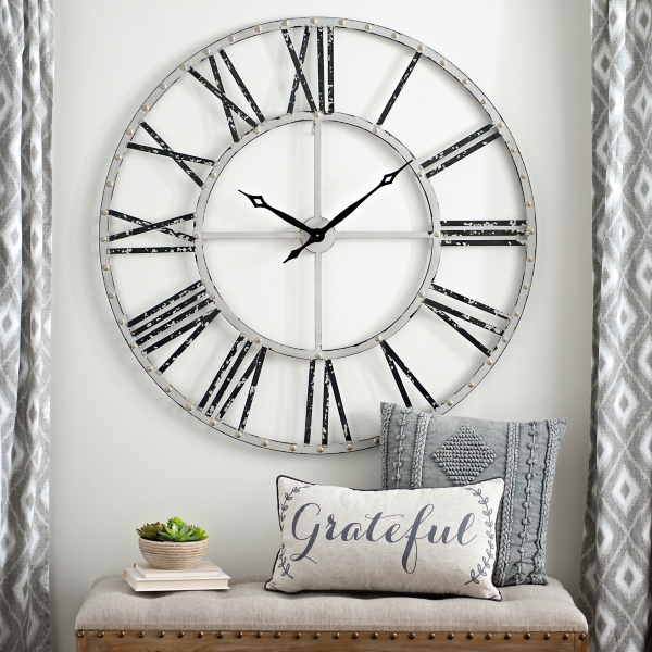 Charmant Addison Cream Open Face Clock, 45 In.