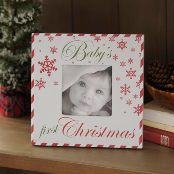 Baby\'s First Christmas Picture Frame, 4x4 | Kirklands