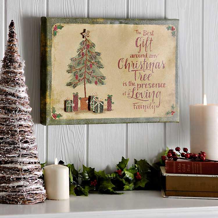 Best Christmas Gift Popped Canvas Art Print | Kirklands