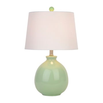 Mint green ceramic table lamp kirklands mozeypictures Choice Image