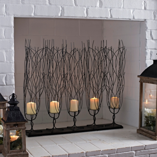 Create a forest of drama in your home with this Metal Branches 5-Pillar Candle Holder. You