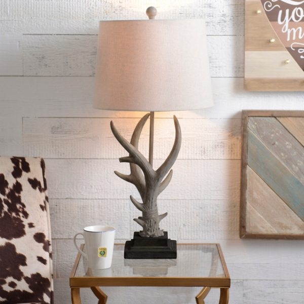 Natural antler table lamp kirklands aloadofball Image collections