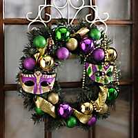 Mardi Gras Mask and Bead Wreath