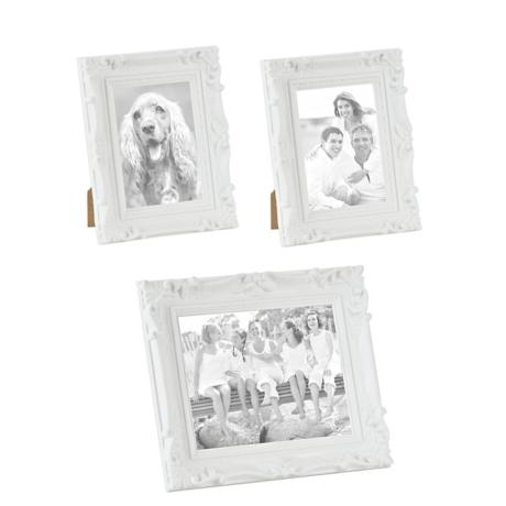 Ornate White Picture Frames, Set of 3 | Kirklands