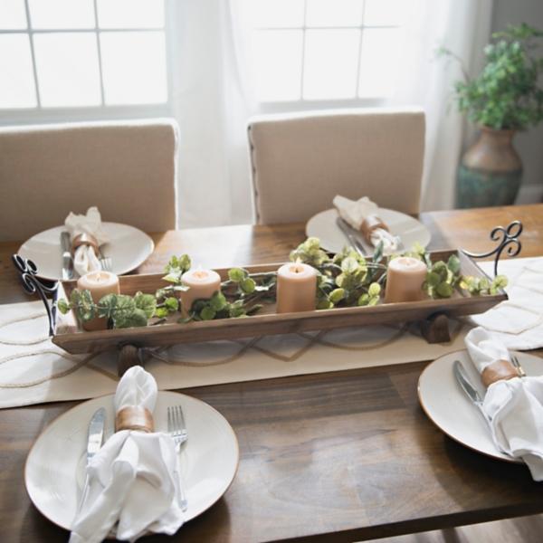 Rustic Wood Runner Tray & Decorative Plates   Decorative Bowls   Kirklands