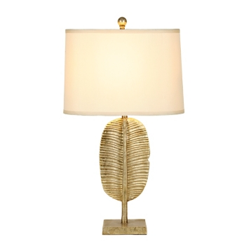 Gold palm leaf table lamp kirklands aloadofball
