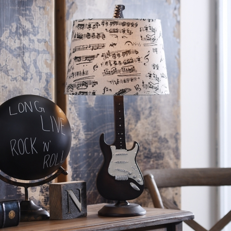 Guitar table lamp kirklands aloadofball Images