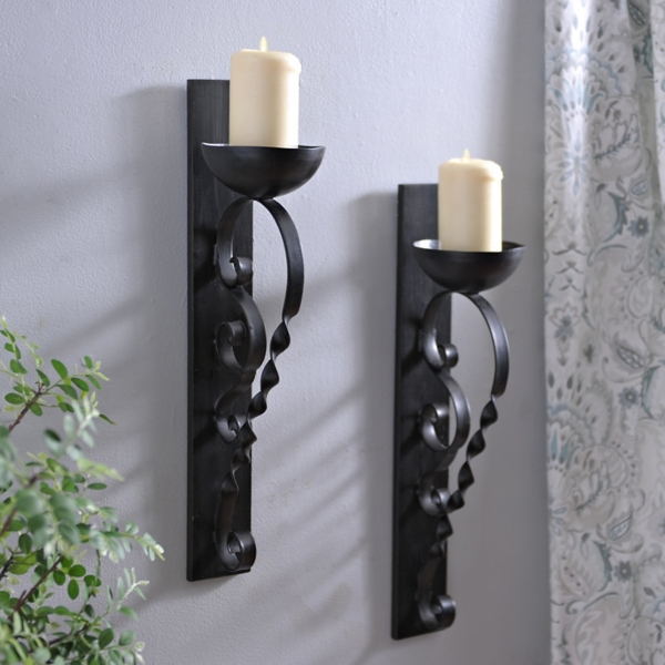 Superbe Twisted Pillar Sconce, Set Of 2